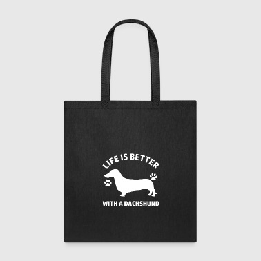 dachshund design - Tote Bag