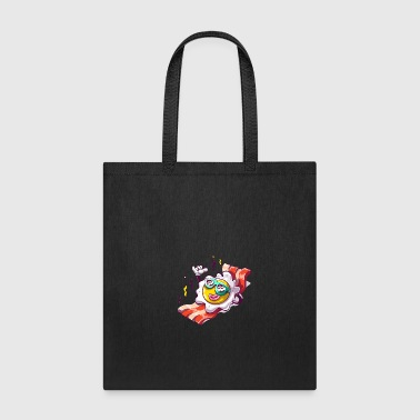 Fried egg in beach funny sunglasses - Tote Bag