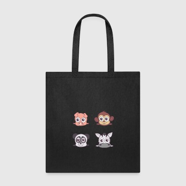 Pets for kids. Peggy, appy, pandy and zebry - Tote Bag