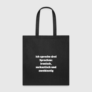 ironically squarastic ambiguous wordy witty - Tote Bag