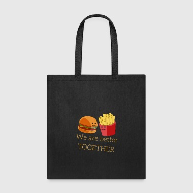 Burger and French Fries - Tote Bag