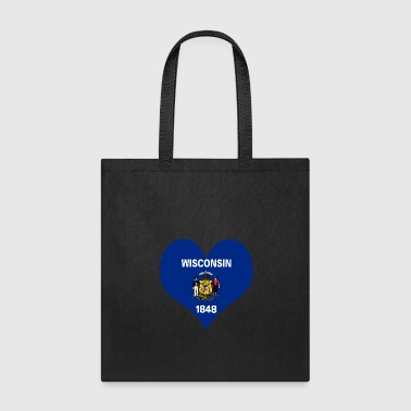 Heart Wisconsin Love country America USA gift idea - Tote Bag