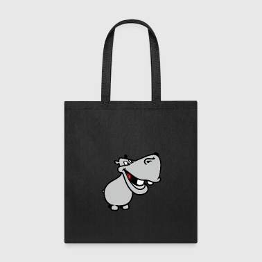 Animal hippopotamus wildlife cartoon vector image - Tote Bag