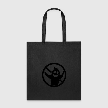 black sign symbol forbidden sign ghost ghost laugh - Tote Bag