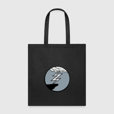 cloud thunderstorm lightning storm cliff round cir - Tote Bag