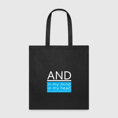 Music Single Album In My Mind Head Gift - Tote Bag