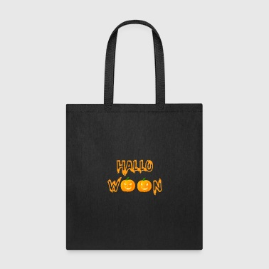 Sour Halloween in orange with pumpkins - Tote Bag