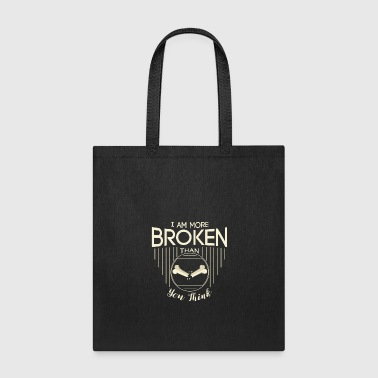 Fingers Broken bones! I am broken! gift, idea, present - Tote Bag
