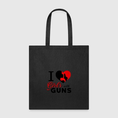 Gun Girl Girls with Guns Weapons - Tote Bag