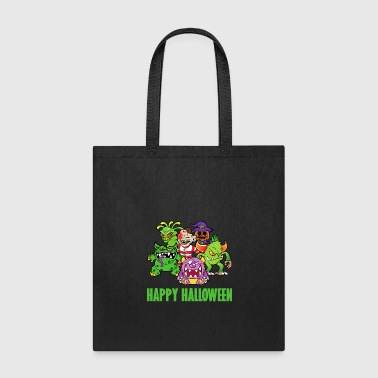Halloween Monster Zombie Horror Skelett Skull Bone - Tote Bag