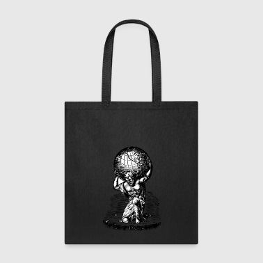 Mythology Atlas lifts the World Greek Mythology - Tote Bag