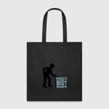 worlds best grandpa world best stock hat go back g - Tote Bag