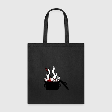 pot kitchen eat delicious hunger chef eye hands se - Tote Bag