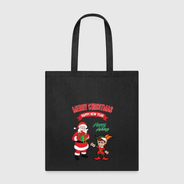Christmas Xmas Elf Elves Santa Claus Nicholas - Tote Bag