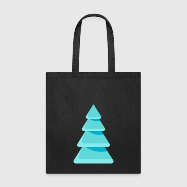 Christmas tree spruce New Year Ice vector image - Tote Bag