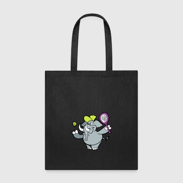 Wilderness Cute Funny Cool Elephant Badminton - Tote Bag