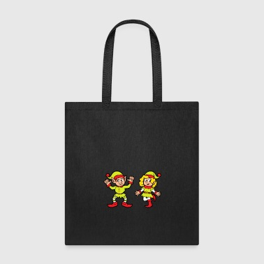 Tree Funny Cool Cute Christmas Elf Elves Xmas Gifts - Tote Bag