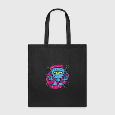 Anime One Eyed Space Monster - Tote Bag