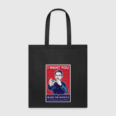 Edward Snowden - I want you to blow the whistle - Tote Bag