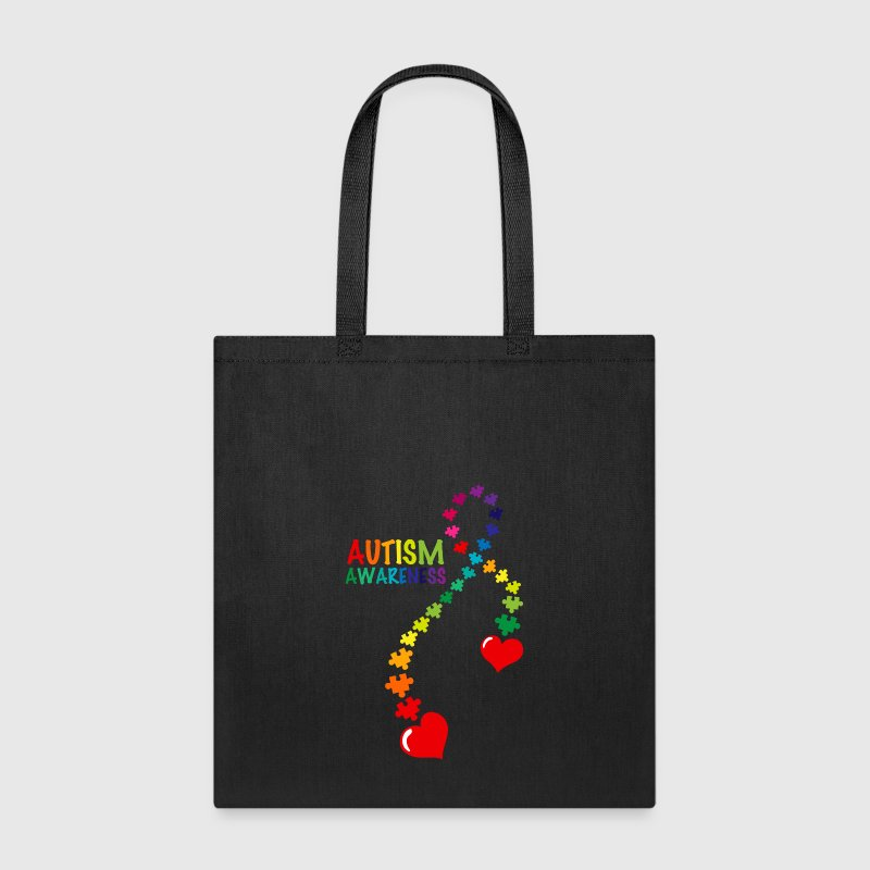 Autism Puzzle Ribbon - Tote Bag