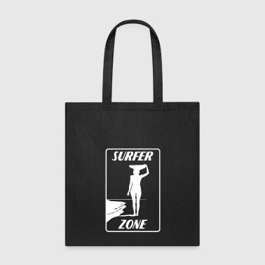 Surfer-girl Surfer Zone Surfer Girl white - Tote Bag