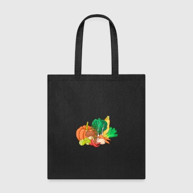 Zucchini Mushrooms Carrots Pumpkin Pepper Pak Choi - Tote Bag