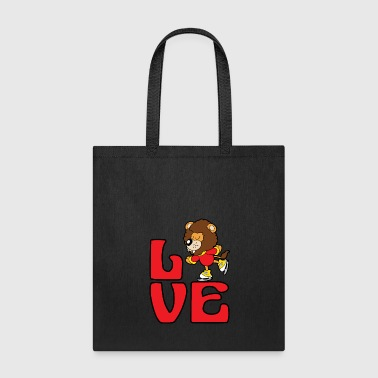 Lion Ice Skating Skater Skates Winter Sports - Tote Bag