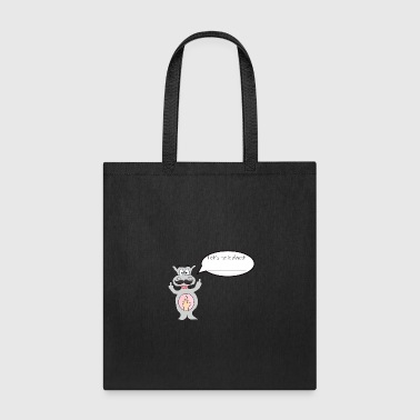Hippo with middle finger gift idea - Tote Bag