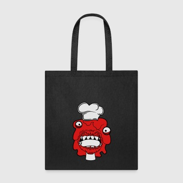 sausage cook eat chef apron hunger delicious dange - Tote Bag