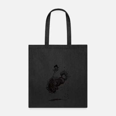 Cartoon Thelwell Horse Rodeo - Tote Bag