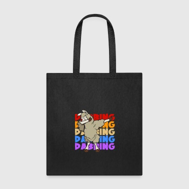 Retro Vintage Pop Art Dabbing Dab Llama - Tote Bag