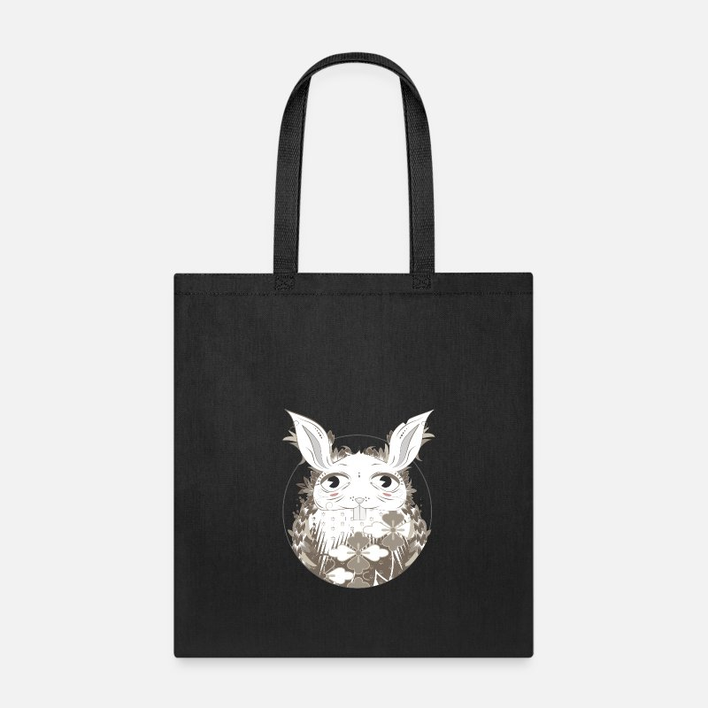 Bunny Bags & backpacks - Rabbit hole - Tote Bag black