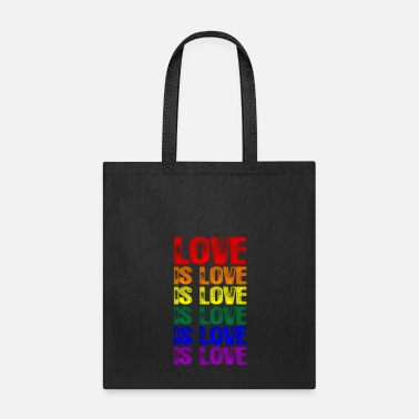 Lovely LGBTQ Love is Love is Love - Tote Bag
