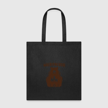 Backpacker Bear Vintage Hiking T Shirt Camping - Tote Bag