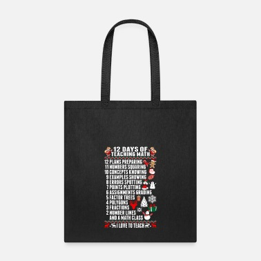 Math Twelve Days of Teaching Math - Tote Bag