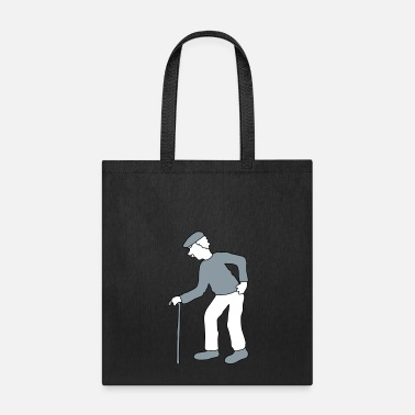 Stockman silhouette stock hat go back grandfather grandfath - Tote Bag
