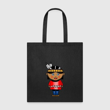 indian squaw girl cute child baby - Tote Bag