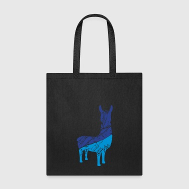 scratch stamp tears silhouette black outline lama - Tote Bag