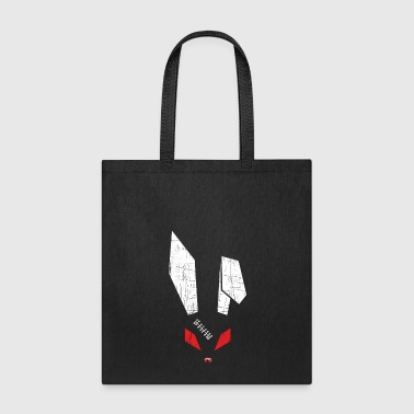 Scar Red Eyes Scary Bunny Blood Red Lips Creepy Scar - Tote Bag