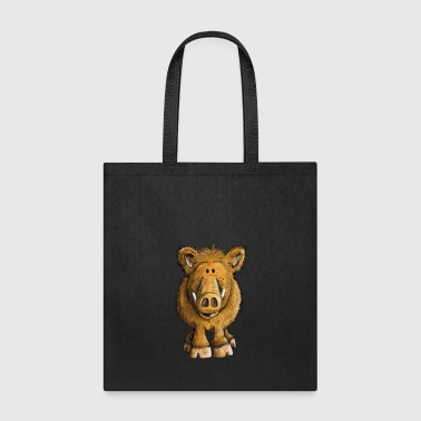 Funny Wild Boar - Sow - Pig - Cartoon - Gift - Tote Bag