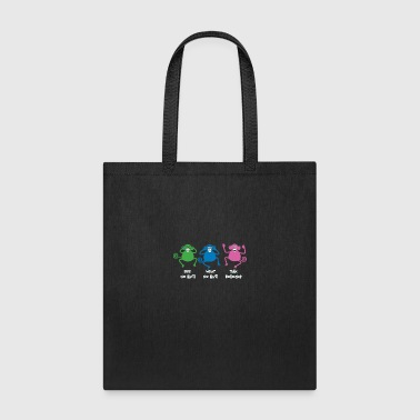 Nonsense Three Monkeys Talking Nonsense - Tote Bag