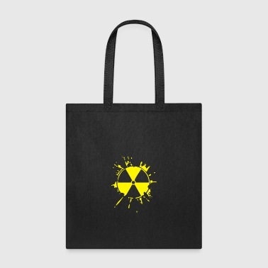 Radioactive sign logo Splat - Tote Bag
