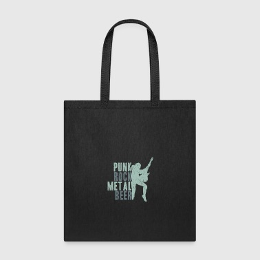 Punk Rock Metal Beer gift idea - Tote Bag