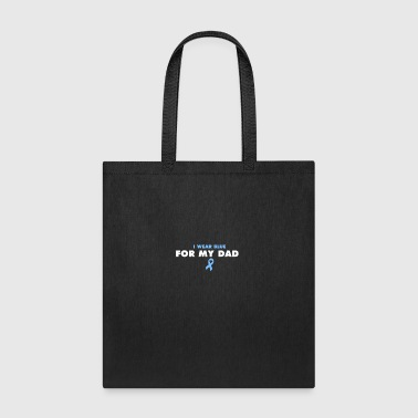 BLUE FOR MY MOM - Prostate Cancer Shirt - Tote Bag