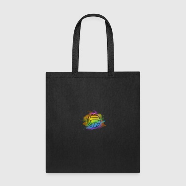 Boy volleyball colorful bright cool nice gift idea - Tote Bag