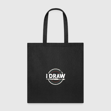 Picture I Draw gift Christmas birthday kids painting - Tote Bag
