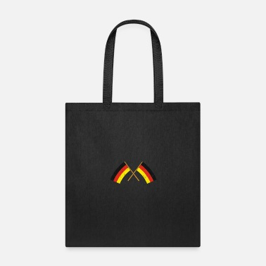 Cross Two crossed German Flags Gift Christmas - Tote Bag