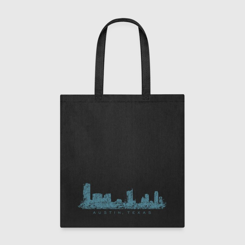 Austin, Texas City Skyline Vintage Blue - Tote Bag