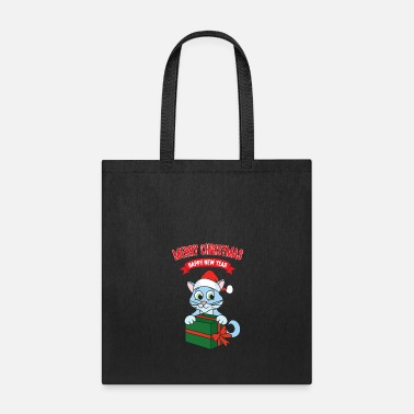 Santa Claus Christmas Xmas Gifts Cat Kitten - Tote Bag
