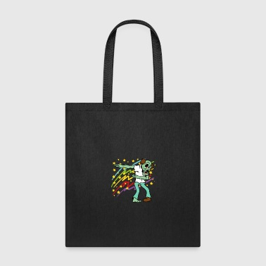 Dabbing Dab Zombie Halloween Disco Party Music - Tote Bag